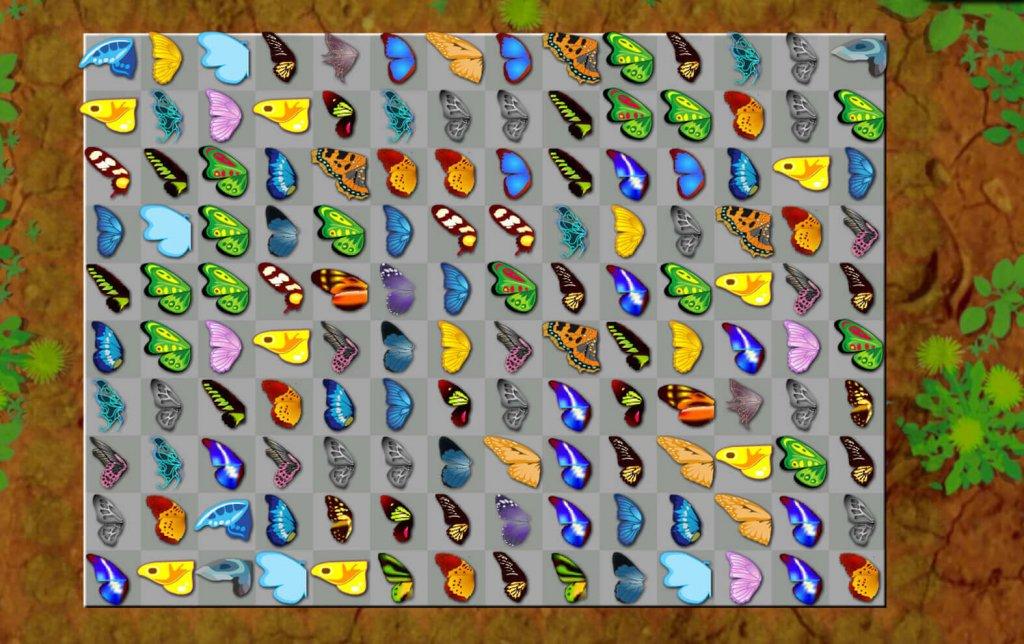 Butterfly Kyodai game fullscreen