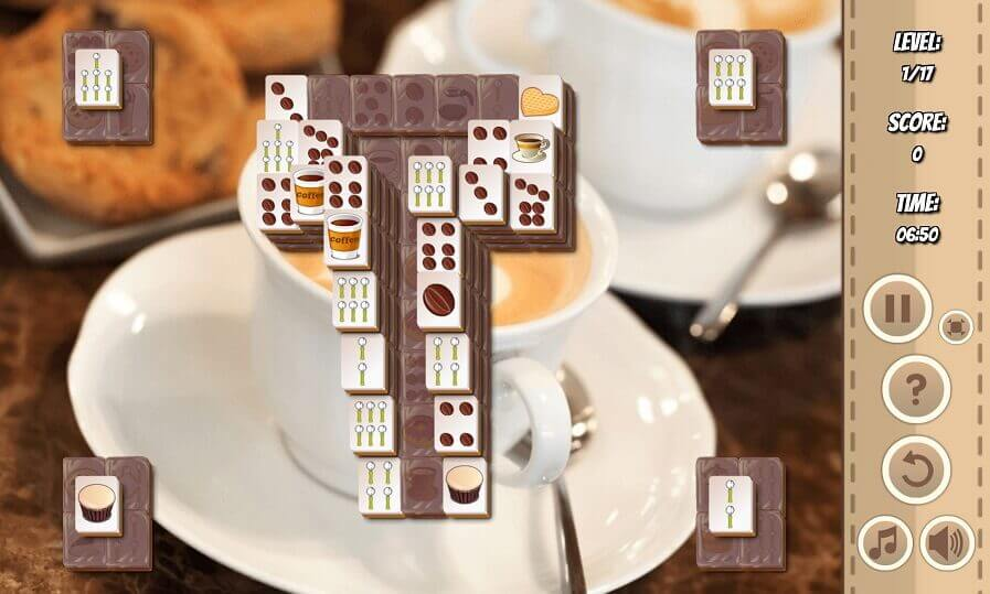 Coffee Mahjong Collision play online