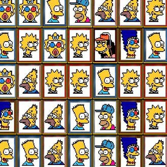 Tiles of the Simpsons Mahjong